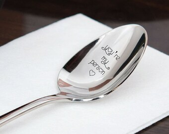 You're My Person - Little Heart- Boyfriend - Girlfriend - Best Friends - Friendship Spoon Gift - Friendship day Gift
