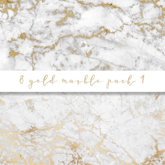 Gold Marble Digital Paper Gold Marble Paper Marble Paper
