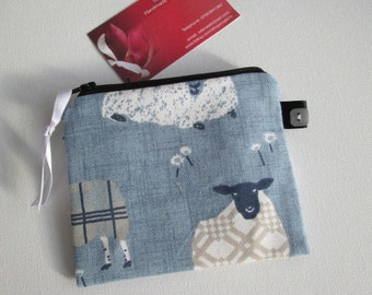 Blue Sheep  Credit Card/Coin Purse
