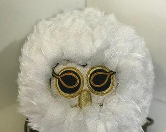 Kimekomi Feather Art Owl