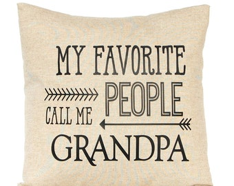Father's Day Gift, Gift from Grandkids, Personalized Grandparent Gift, Grandpa Gift, Grandma Gift, Throw Pillow Cover, Decorative Pillow