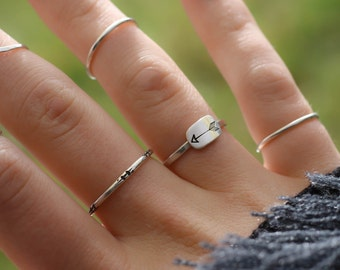 Arrow Ring, Sterling Arrow Ring, Boho Arrow Ring, Hipster Arrow Ring, Stack Ring, Womens Ring, Hammered Ring, Sterling Silver Ring, Arrow