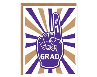 Grad Foam Finger -- Purple and Gold Husky Colors