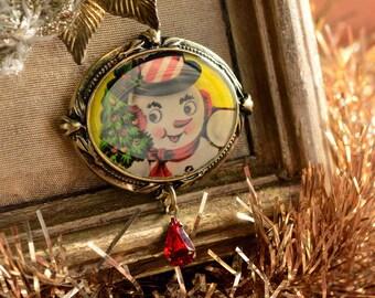 Snowman Pin, Snowman Brooch, Pin, Brooch, Christmas Pin, Christmas Brooch, Christmas Jewelry, Holiday Pin, Holiday Brooch, Holiday P339