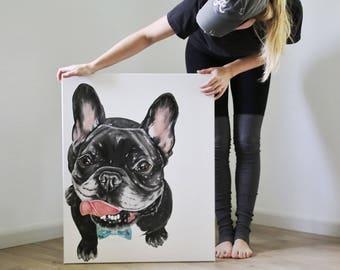 Custom pet painting, pet painting custom, dog painting custom, custom dog painting, pet portrait, dog portrait