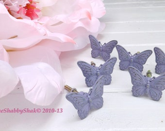 Butterfly Knob / Dresser Knob/ Drawer Pull / Shabby Chic Decor / Nursery Decor / Girls Room Decor Cyber Monday