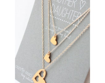 Mother Daughter Necklace Set - Mother's Day Gift - Mother's necklace - Gift for Mom - daughter necklaces - jewelry gift - gift for her