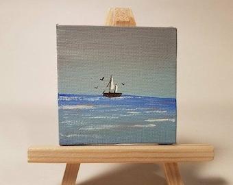 Original Miniature Acrylic Painting