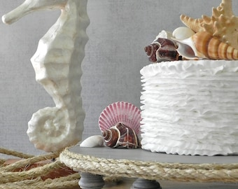 "20"" Cake Stand Cupcake Beach Nautical Rope Cake Topper Driftwood Rustic Wedding E. Isabella Designs Featured In Martha Stewart Weddings"