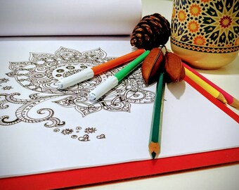 Mandala Coloring Book, 10 Mandala Coloring Pages , Adult Coloring Books, Zen Coloring Book, Coloring Book For Kids, Stress Relief Coloring