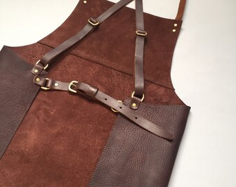 Genuine leather apron ,gift apron, barber apron, bartender apron, leather apron, butcher apron, barista apron, chefs apron,  gift for him