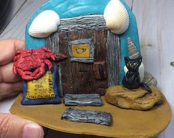 Summer Fairy Door, Miniature Fairy Door, Miniature Door, Magical Fairy Door, Fairy Portals, Fairy, Fairy Garden, Fairy Door, Nautical Decor