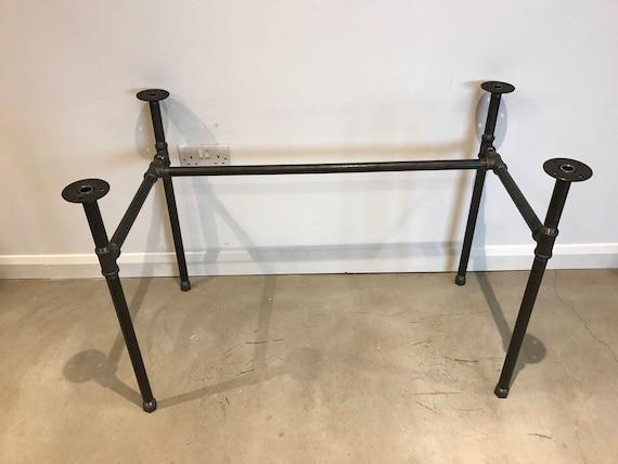 black steel pipe desk table legs. Black Bedroom Furniture Sets. Home Design Ideas