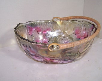 Vintage Irridized Fruit Bowl