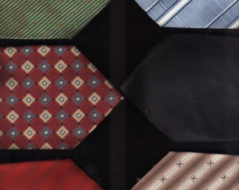 Men's Ties -Polyester -All Like New Very Good6 Ties In The Group