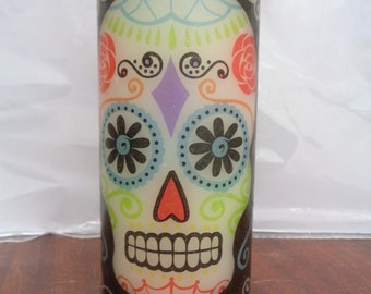 candy skull candle