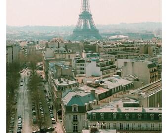 Paris Photography - Eiffel Tower Photograph - Paris Print - Fine Art Photograph - Pink Print - Paris Art - French Decor - Eiffel Tower Print