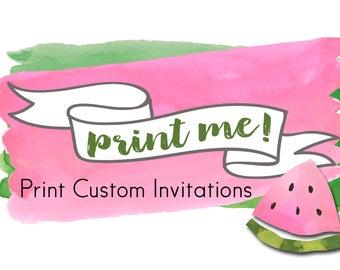 Print Custom Invitations