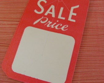 One Dozen Vintage Kitsch Price tags Adorable Mint Condition