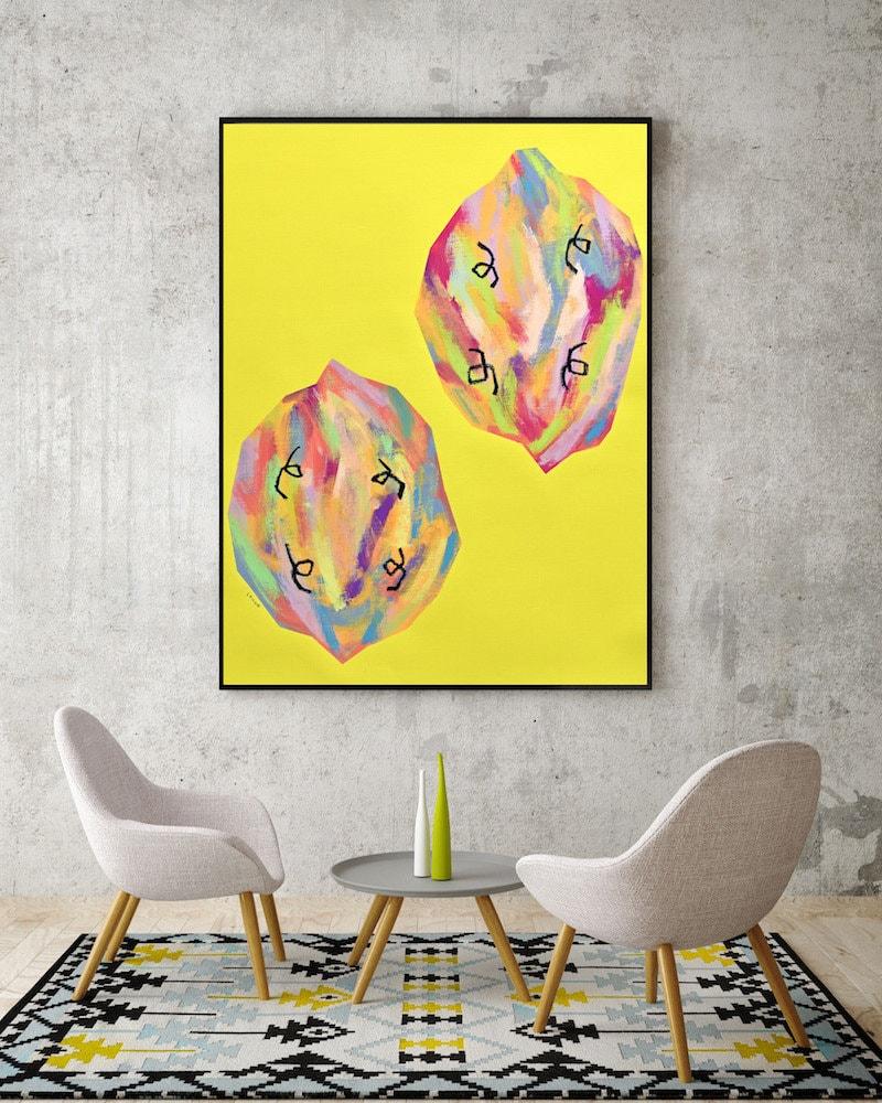 Original Pop Art Colorful Modern Art Original Abstract