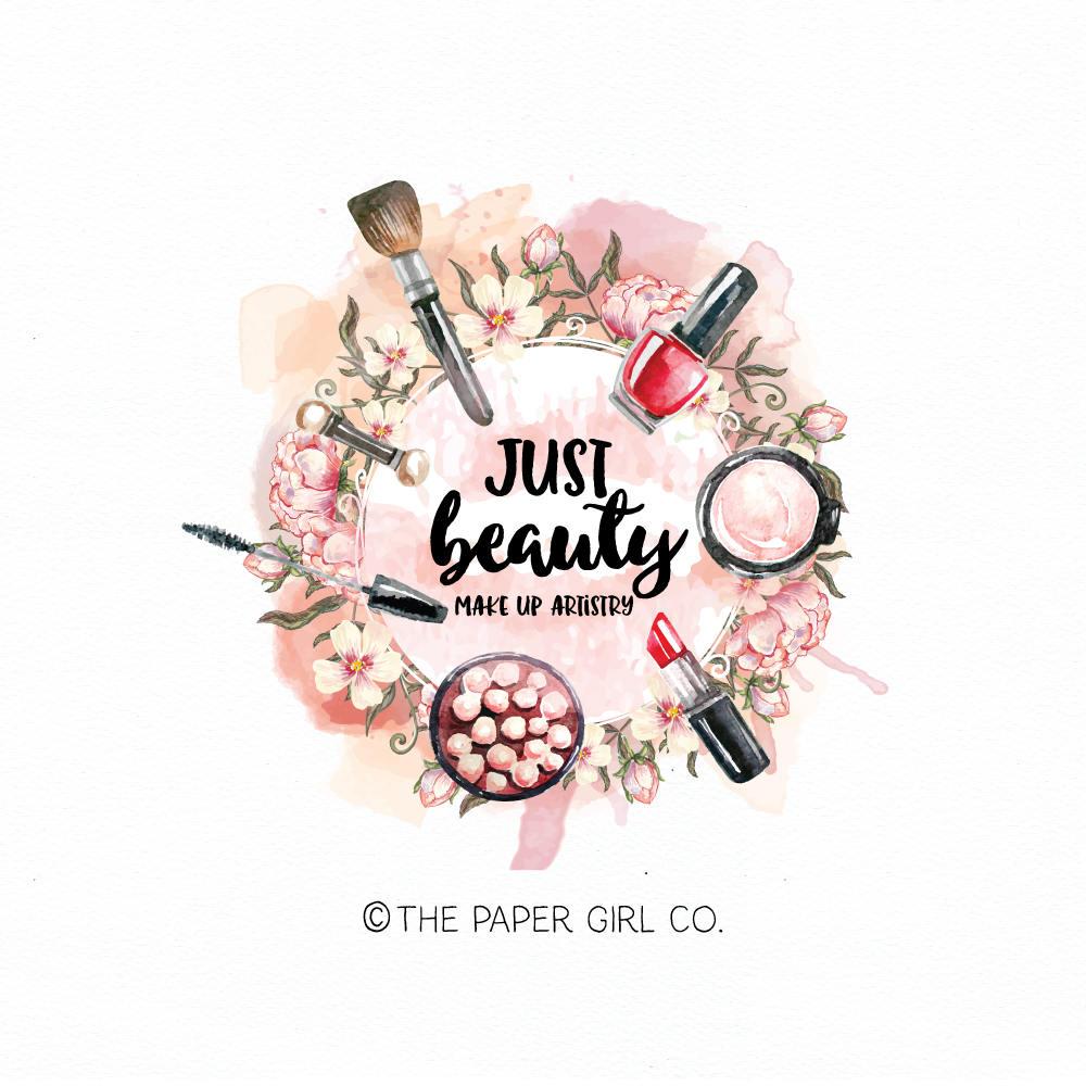 make-up logo beauty logo cosmetics logo makeup artist logo