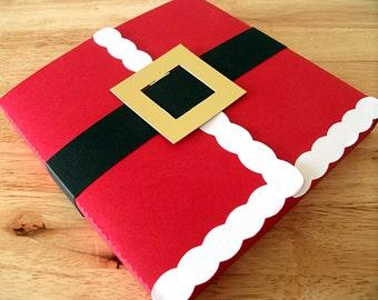 Holidays Christmas Santa CD and DS Sized Gift Box, Christmas Wrapping, Christmas Gift Box, Holiday Gift Box, Santa Gift Box