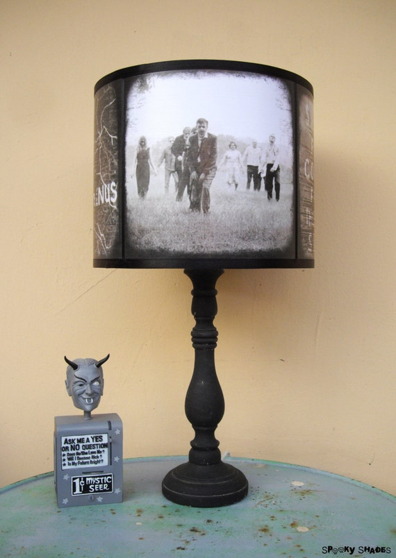 Zombie Apocalypse Black And White Lamp Shade Lampshade The