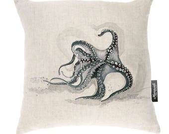 Mamawati Octopus Cushion Cover (50 x 50cm) in Raw Linen