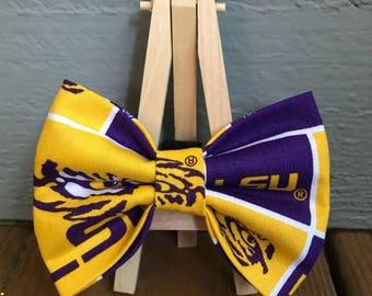 LSU Dog Bow Tie