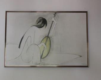 Vintage Ha Van Vuong 'Mandolin' Print
