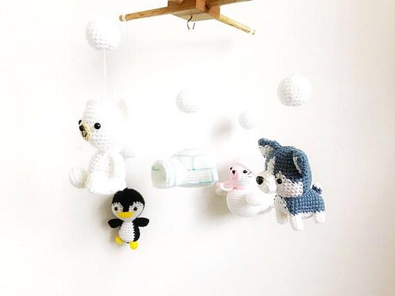 Amigurumi Sheep Baby Mobile : Crochet baby mobile north pole baby mobile nursery