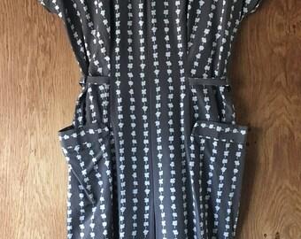 1950's COTTON PRINT DRESS