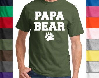Papa Bear T-Shirt S-XL Many Colors! Awesome  or Fathers Day Gift