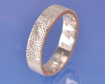 Fingerprint Ring. Platinum