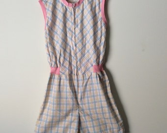 SALE * Vintage all-in-one shorts jumpsuit / onesie for a teenage girl size 14.
