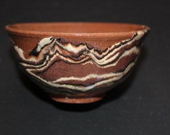 Ceramic tea  cup Mokume gane 30