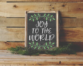 Joy to the World Printable Wall Art
