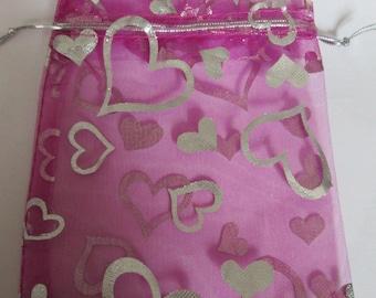 Pocket fuchsia 12 x 10 cm, for jewelry gift bag