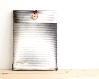 """15 pouces Macbook Pro 15"""" étui personnalisé Laptop Sleeve-Housse rétine / Indigo Hickory Stripe"""