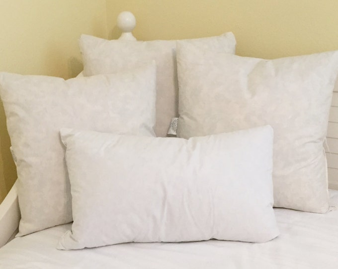 Synthetic Faux Down Pillow Inserts - Square, Euro, Lumbar and Bolster Sizes