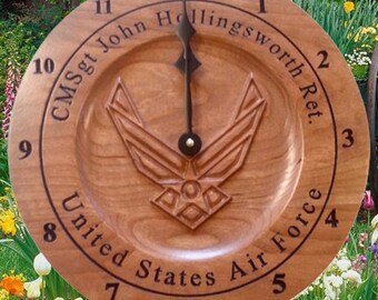 Personalized Air Force retirement gift Air Force Decor Military Gift Custom Anniversary Clock Unique Retirement gift Veterans Wall Clocks