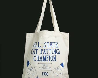 Tote Bag - All State Cat Patting Champion