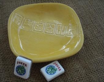 Small Mahjong Dish -  Mahjong Snack Plate- Mahjong Dish - Oriental Dish -  Candy Dish - Soap Dish - Mahjong Gift