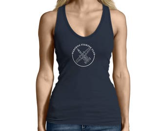 Women's A10 Warthog Fighters Club Airplane Tank Top