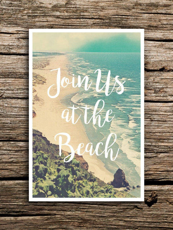 At The Beach Wedding Save The Date Postcard Destination - Beach save the date templates free