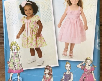 UNCUT Girls Childs Dress Pattern Simplicity 2265 Size 1/2-1-2-3-4-5-6-7-8 Party, Holiday, Ruffle Dress, Formal, Flower Girl, Project Runway