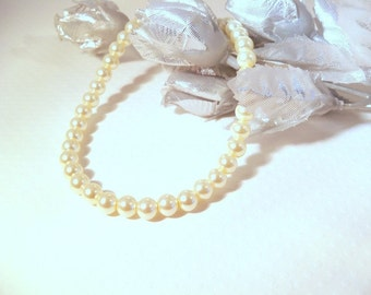 First Pearls, Ivory, Flower Girl  Jewelry, Childrens Jewelry, Kids Jewelry, Pearl Necklace, Childs Necklace, Toddler Jewelry