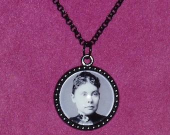 Lizzie Borden Inspired Black Cameo Necklace / Lizzie Borden / Lizzie Borden Took an Axe / Horror Jewelry / Horror / True Crime