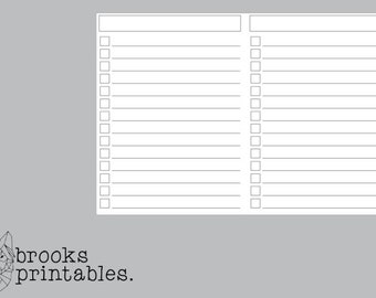 A6 RINGS Lists Insert | Printable Inserts