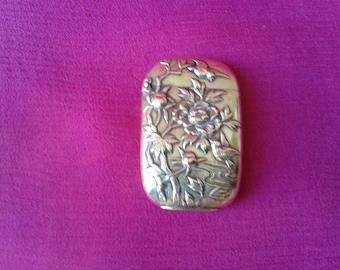 """""""Art Nouveau"""" brass Matchstick holder"""